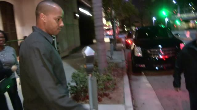 Donald Faison Cacee Cobb depart Spago in Beverly Hills 03/09/13