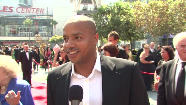 Donald Faison on being in the heat on presenting at the Creative Art Emmy's and on the importance of this award show at the 2009 Primetime Creative...