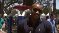 Donald Faison on the 20th anniversary on coaching at the Big Shot booth at the 20th Anniversary 'A Time For Heroes' Celebrity Carnival Sponsored By...
