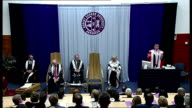 Donald Trump awarded Honorary Degree by Robert Gordon University in Aberdeen Trump speech SOT When they are completed everybody will love what we've...