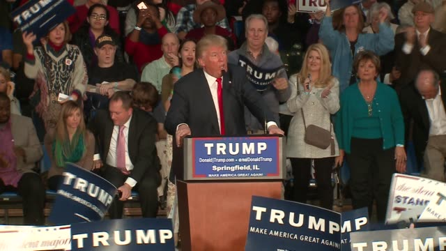 WGN Donald Trump Declares He Will 'Make America Great Again' at the Prairie Capital Convention Center in Springfield Illinois on November 9 2015