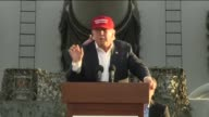 KTLA Donald Trump During The National Security Speech in San Pedro