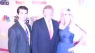 Donald Trump Jr Donald Trump Ivanka Trump at the Finale of 'The Celebrity Apprentice' at Rockefeller Center in New York New York on March 27 2008