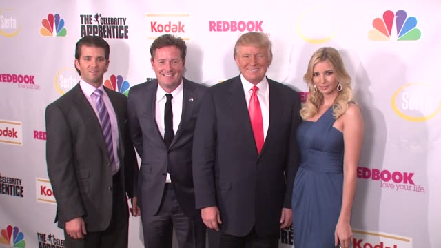 Donald Trump Jr Piers Morgan Donald Trump and Ivanka Trump at the Finale of 'The Celebrity Apprentice' at Rockefeller Center in New York New York on...