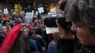 Donald TRUMP Protesters gathered outside of Trump Tower on 5th Avenue in opposition to Donald Trump's presidency / The protesters walked from 14th...