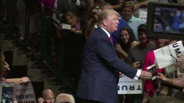 Donald Trump rallies supporters in Dallas Texas with lots of broll signs flags waving and at the end when asked about debate preparation Trump says...