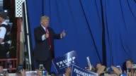 Donald Trump se congratulo el sabado por sus primeros 100 dias como presidente de Estados Unidos y aseguro ante una multitud de enfervorizados...