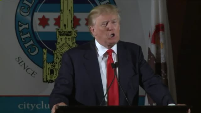 WGN Donald Trump spoke to civic and business leaders at a soldout City Club of Chicago luncheon on June 29 2015