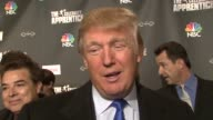 Donald Trump talking about the success of the show resurrecting the original 'Apprentice' the difficulty having celebrities on the show and his...