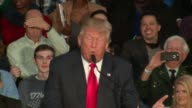 WGN Donald Trump Talks About Bernie Sanders and Hillary Clinton at Campaign Rally at the Prairie Capital Convention Center in Springfield Illinois on...