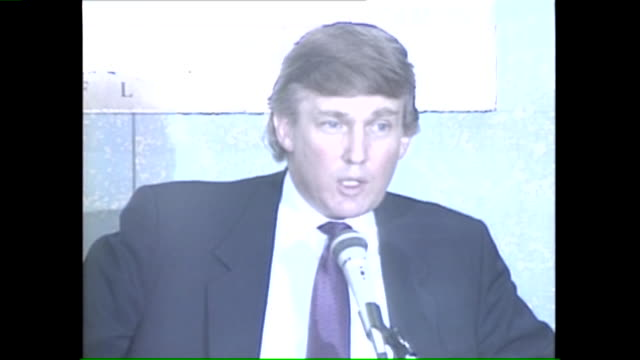 WGN Donald Trump talks to the press about the status of his business and personal life while in Chicago on business to auction off some of his...