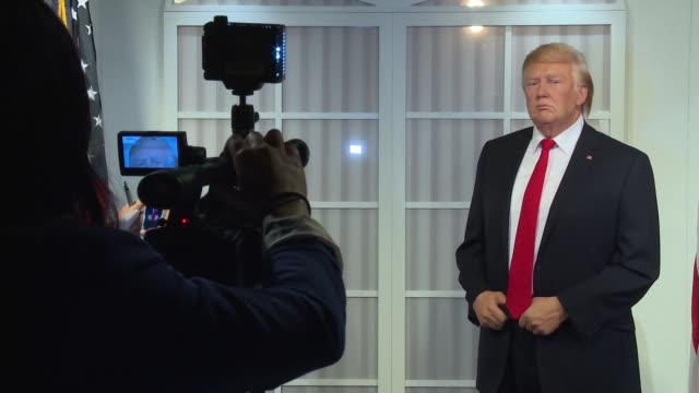 Donald Trump wax figure at Donald Trump Wax Figure Unveiled At Madame Tussauds Wax Museum In DC at Madame Tussauds on January 18 2017 in Washington DC