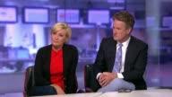 Donald Trump's personal attack against 'Morning Joe' show hosts ENGLAND London GIR INT Joe Scarborough and Mika Brzezinski STUDIO interview SOT