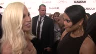 Donatella Versace and Janet Jackson at the Glamour Magazine Honors The 2010 Women Of The Year Red Carpet at New York NY