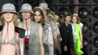 Donatella Versace's 'Versus' line showed its latest collection at London Fashion Week on Sunday