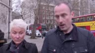Donna Bradley and Adam Fisher the children of a couple murdered in Sousse speak outside the Royal Courts of Justice They discuss the inquest how they...