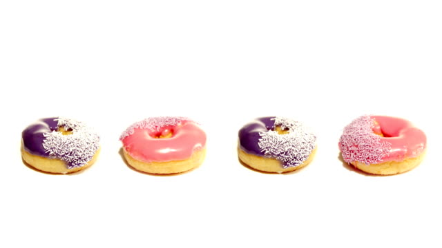 Donuts in a row