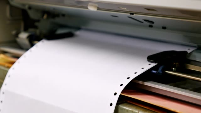 Dot Matrix printer documents.