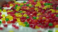 Dots On Conveyor Belt In Tootsie Roll Factory on November 01 2012 in Chicago Illinois