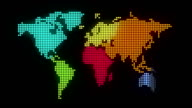 Dotted World Map - Animation