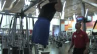 Double amputee bodybuilder Rohan Murphy works out at Gold's Gym on August 30 2012 in Islip NY