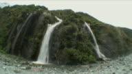 WS Double Waterfall by Glacier / Franz Josef Glacier, New Zealand