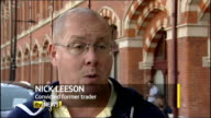 Doubts over future of Barclays Bank Chief Executive after LIBOR rate manipulation ENGLAND London EXT Nick Leeson interview SOT