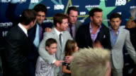 Doug Ellin Adrian Grenier Ari Emanuel Kevin Connolly Lucas Ellin Maya Ellin Kevin Dillon Jeremy Piven and Jerry Ferrara posing for paparazzi on the...