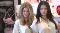 Doutzen Kroes and Adriana Lima at the Adriana Lima and Doutzen Kroes Unveil the New Vintage Victoria Collection at New York NY