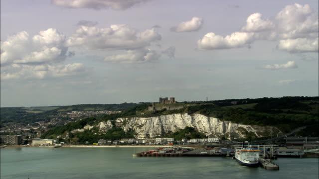 Castello di Dover-Vista aerea-Inghilterra, nel Kent, Dover Quartiere, Regno Unito