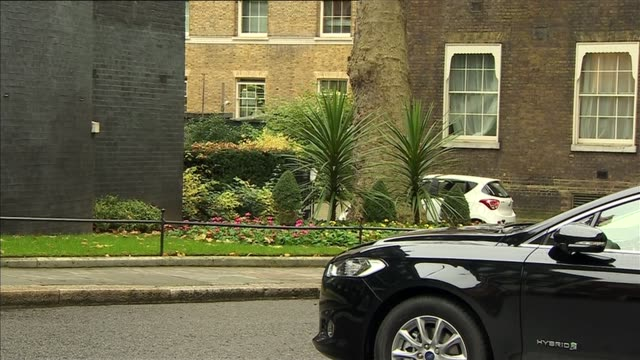 London Downing Street EXT Chris Grayling MP arrives / John Whittingdale MP and Liz Truss MP arrive / Greg Hands MP arrives / Nicky Morgan MP arrives...