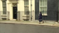 Downing Street Cabinet departures ENGLAND London Downing Street EXT Philip Hammond MP departs / Jeremy Hunt MP departs / Priti Patel MP departs /...