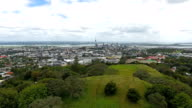 Downtown Auckland with a view on the Sky Tower