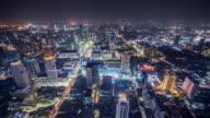 T/L WS HA Downtown Bangkok at Night / Bangkok, Thailand