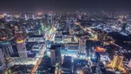 T/L WS HA TD Downtown Bangkok at Night / Bangkok, Thailand