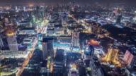 T/L WS HA PAN Downtown Bangkok at Night / Bangkok, Thailand