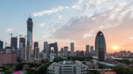 T/L WS HA ZI Downtown Beijing at Sunset / Beijing, China