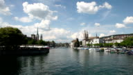 Downtown center and Limmat River, Zurich