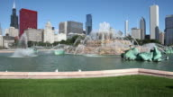 Downtown Chicago with Buckingham Fountain