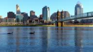 Skyline der Innenstadt Cincinnati an der Ohio River