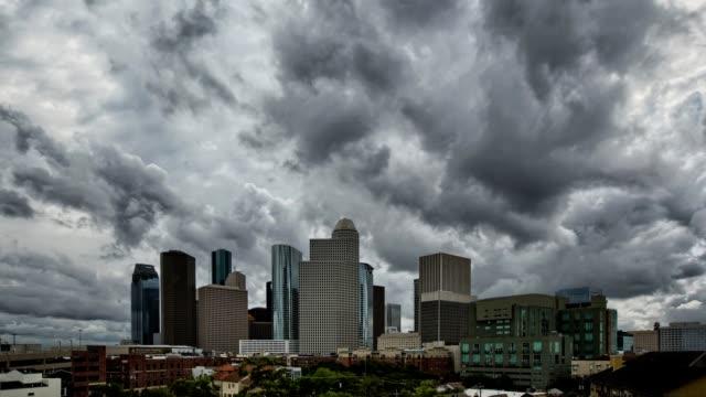 Downtown Houston skyline Storms