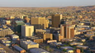 WS AERIAL downtown in morning light / El Paso, Texas, United States