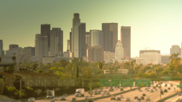 Zeitraffer der Innenstadt von Los Angeles, Kalifornien