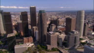 AERIAL, downtown, Los Angeles California, USA