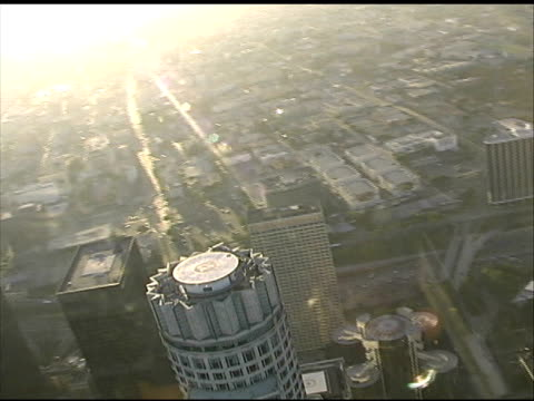 Downtown Los Angeles: Rotate 180 Degrees in LAPD Police Helicopter