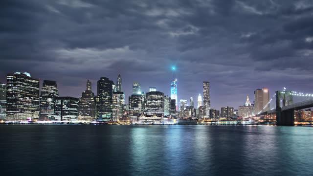 Downtown Manhattan och Brooklyn Bridge