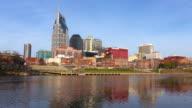 Downtown Nashville skyline along the Cumberland River