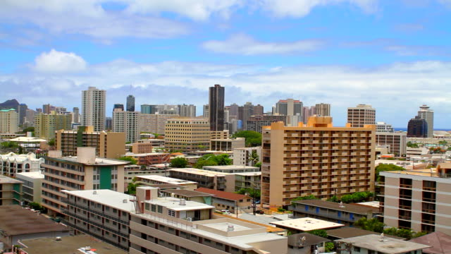Downtown Oahu Hawaii time lapse