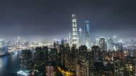 T/L WS HA PAN Downtown Shanghai at Night / Shanghai, China