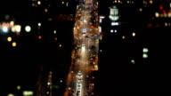 Downtown Toronto Time lapse di notte con Altalena inclinazione della lente